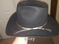 Vintage Stetson 4X Beaver Western Hat 7 1/4 Braided Horsehair Band NICE