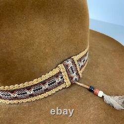 Vintage Stetson Brown XXX Beaver Feather Cowboy Hat, 7 1/8