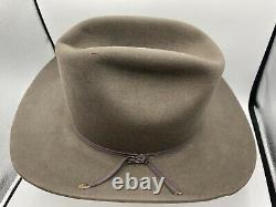 Vintage Stetson Cowboy Hat Rancher XXXXX Beaver 5X Size 7 1/4 Brown Felt