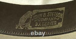 Vintage Stetson Stampede Palomino 3X Beaver Brim 3 1/2 Mens 7 1/4 Cowboy Hat