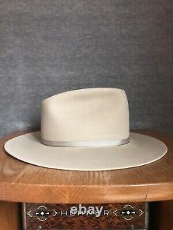 Vintage Wormser 3X quality cowboy Fedora Hat 7 3/8 (Restored)