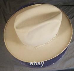 Vtg 1950s 3X Beaver STETSON OPEN ROAD Fedora 7 1/8 cowboy hat w box & tag