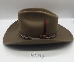 Vtg 1981 STETSON 3X Beaver Winchester Limited Ed XXX Cowboy Hat 7 1/4 Never Worn