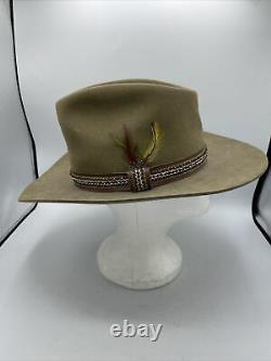 Vtg 1981 STETSON 3X Beaver Winchester Limited Ed XXX Cowboy Hat 7 1/8 Good