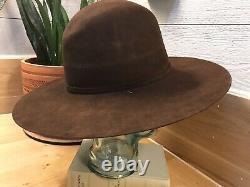 Vtg 3XXX Beaver Stetson Sun Faded Black Tombstone Western Cowboy Hat Sz 7 1/8