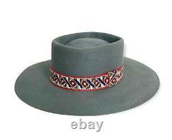 Vtg BOYD HAT CO Cowboy Hat 7 1/4 Western Fedora boss 5X BEAVER gambler RANCHER
