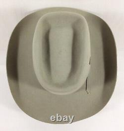 Vtg DORIAN 7X Beaver Quality Fur Felt Cowboy Hat Handcrafted 7 1/4 Beige UNUSED