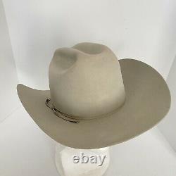 Vtg Resistol 10x Beaver Silver Grey Cowboy Hat W65 Ridgetop Self Conforming 7.5