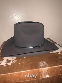 Vtg Resistol Self Conforming Gray Silver Hatband 4X Beaver Felt Cowboy Hat 7