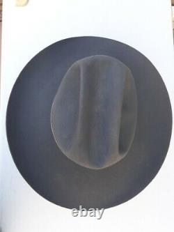 Vtg Resistol Self Conforming Gray Silver Hatband 4X Beaver Felt Cowboy Hat 7 1/4