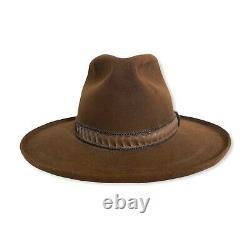 Vtg STETSON Cowboy Hat 7 3/8 Western Fedora PENCIL CURL boss 3X BEAVER open road