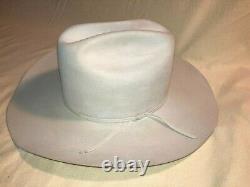 White Resistol 15X Beaver Diamond Horseshoe 7 3/4 western Cowboy Hat, Exc