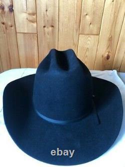 XXXX Stetson Cowboy Hat-4X Beaver-Size 71/8 Box-Black-Vtg-JBS